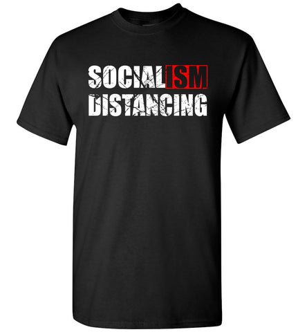 Socialism Distancing T-Shirts black