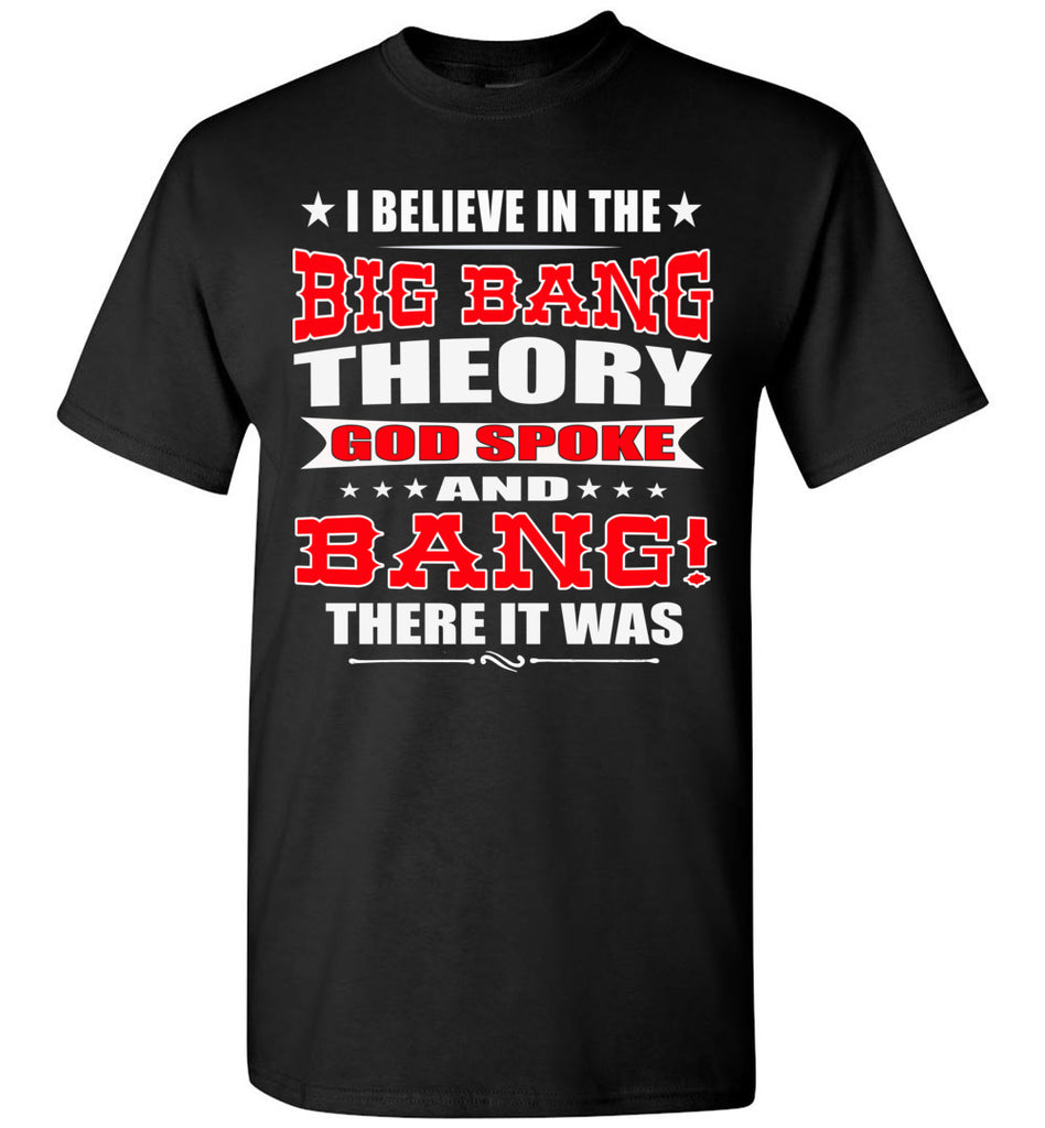 Big Bang Theory Funny Christian Shirts, Creation T Shirt black