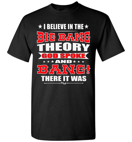 Image of Big Bang Theory Funny Christian Shirts, Creation T Shirt black