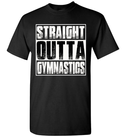 Straight Outta Gymnastics T Shirts adult and youth