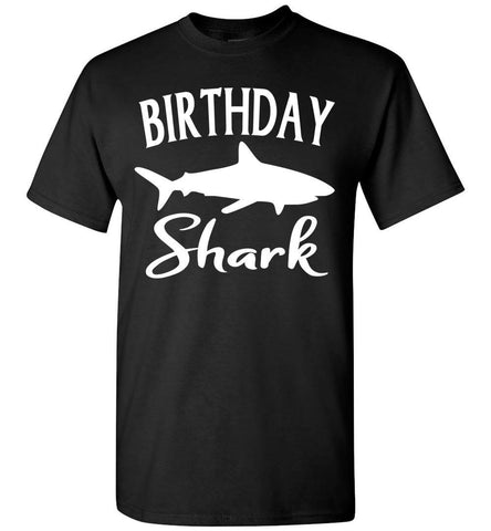 Image of Birthday Shark Shirt unisex black