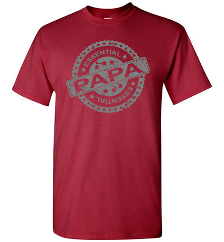 Essential Papa T Shirts red