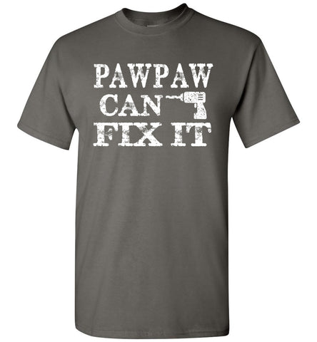 Image of PawPaw Can Fix It Pawpaw T Shirts charcoal