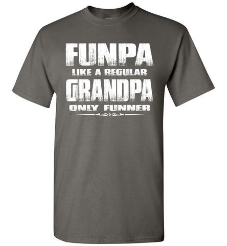 Image of Funpa Funny Grandpa Shirts charcoal