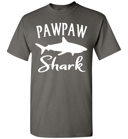 Pawpaw Shark Shirt charcoal