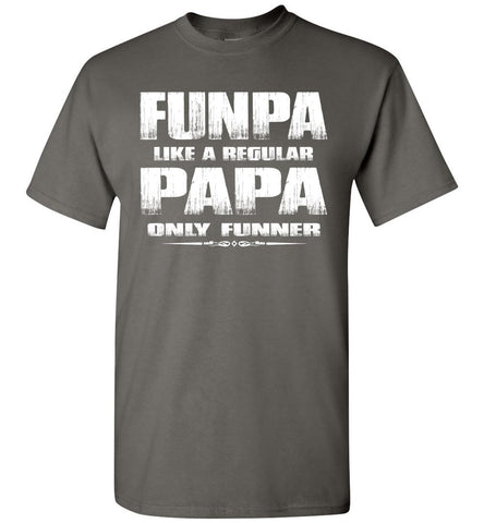 Image of Funpa Funny Papa Shirts charcoal