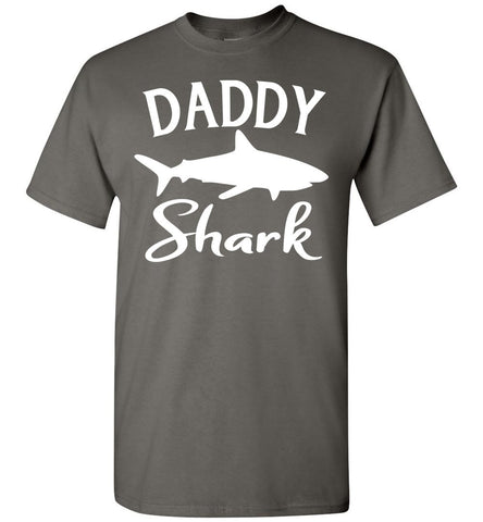 Image of Daddy Shark Shirt charcoal