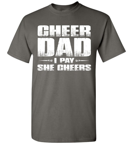 Image of I Pay She Cheers Cheer Dad Shirts charcoal