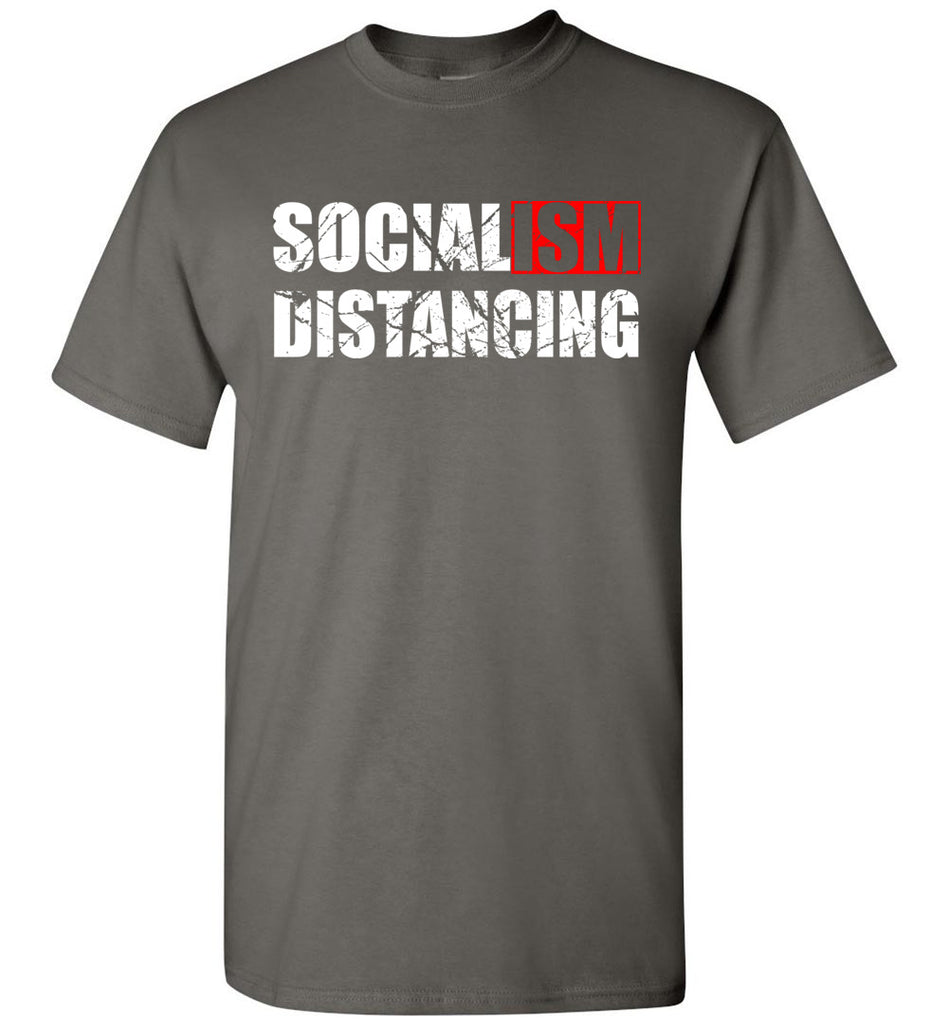 Socialism Distancing T-Shirts charcoal