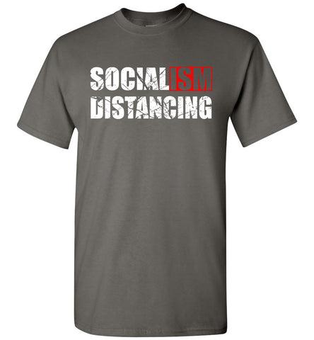 Image of Socialism Distancing T-Shirts charcoal