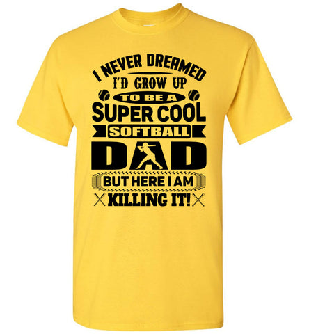 Super Cool Softball Dad Shirts daisy