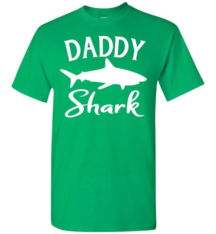Image of Daddy Shark Shirt green