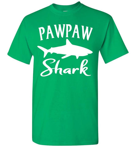Pawpaw Shark Shirt green