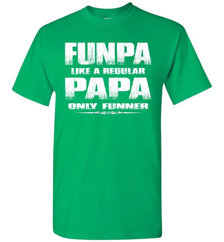 Image of Funpa Funny Papa Shirts green