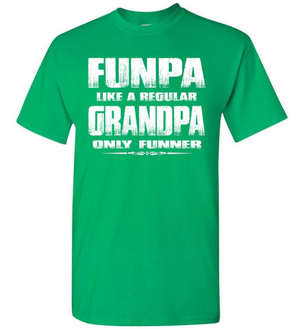 Image of Funpa Funny Grandpa Shirts green