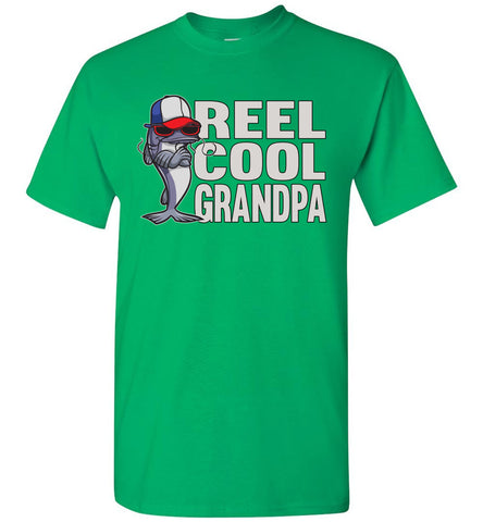 Reel Cool Grandpa Fishing Shirt green