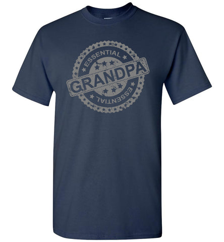 Image of Essential Grandpa T Shirts navy