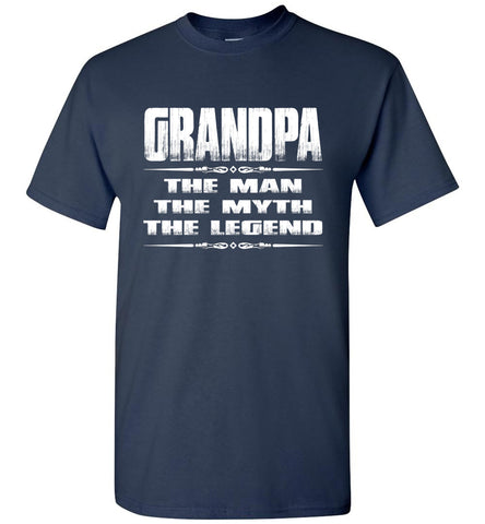 Image of Grandpa The Man The Myth The Legend T Shirt navy