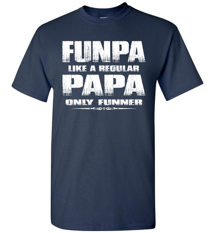 Image of Funpa Funny Papa Shirts navy