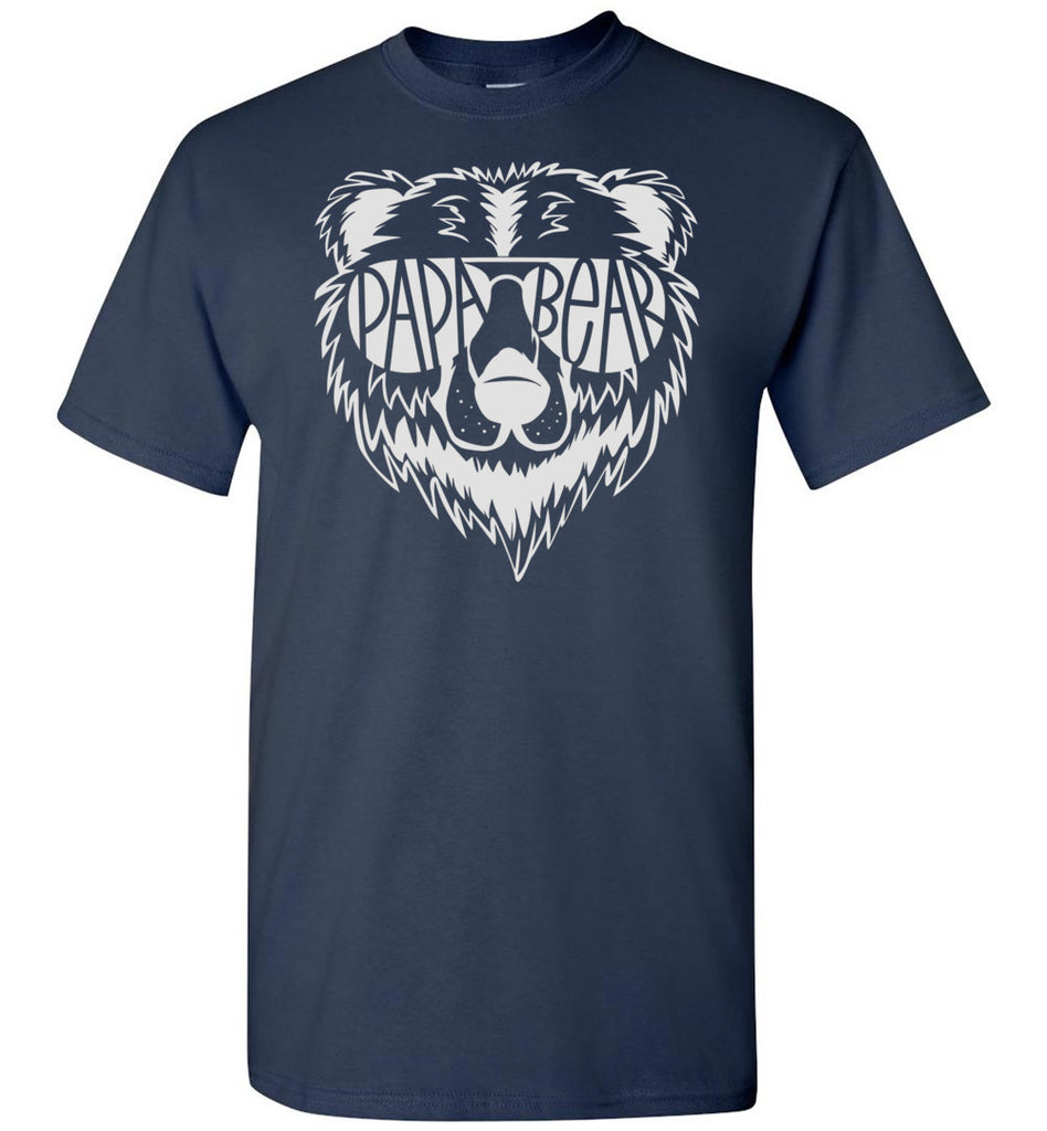 Papa Bear T Shirt navy