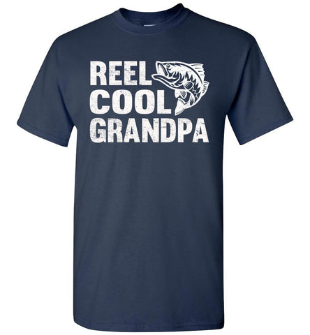Image of Reel Cool Grandpa Fishing Shirt navy