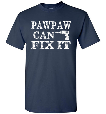 Image of PawPaw Can Fix It Pawpaw T Shirts navy