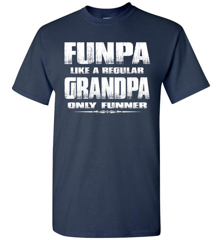 Image of Funpa Funny Grandpa Shirts navy