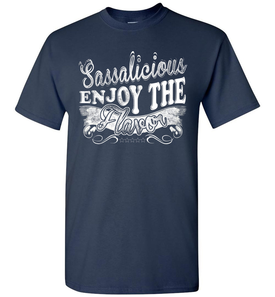 Sassalicious Enjoy The Flavor! Sassy Shirts unisex navy