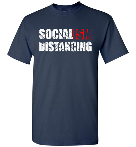 Image of Socialism Distancing T-Shirts navy