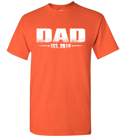 Image of Dad EST. 2019 New Dad T-Shirts orange