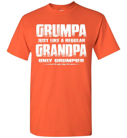 Image of Grumpa Funny Grandpa Shirts | Grandpa Gag Gifts orange