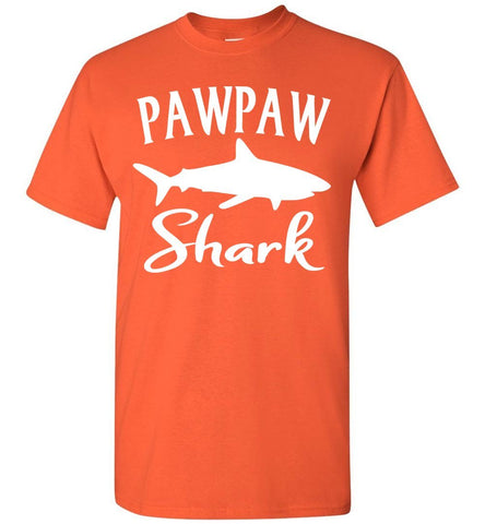 Pawpaw Shark Shirt orange