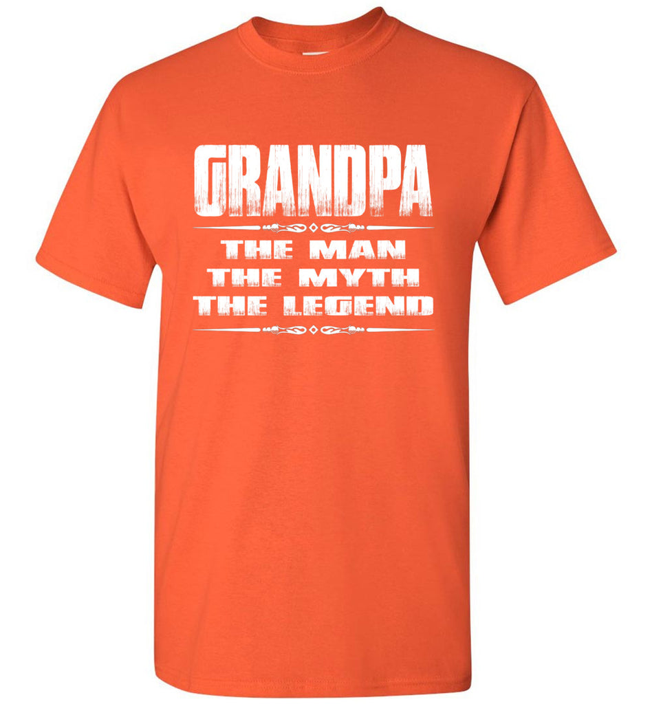Grandpa The Man The Myth The Legend T Shirt orange