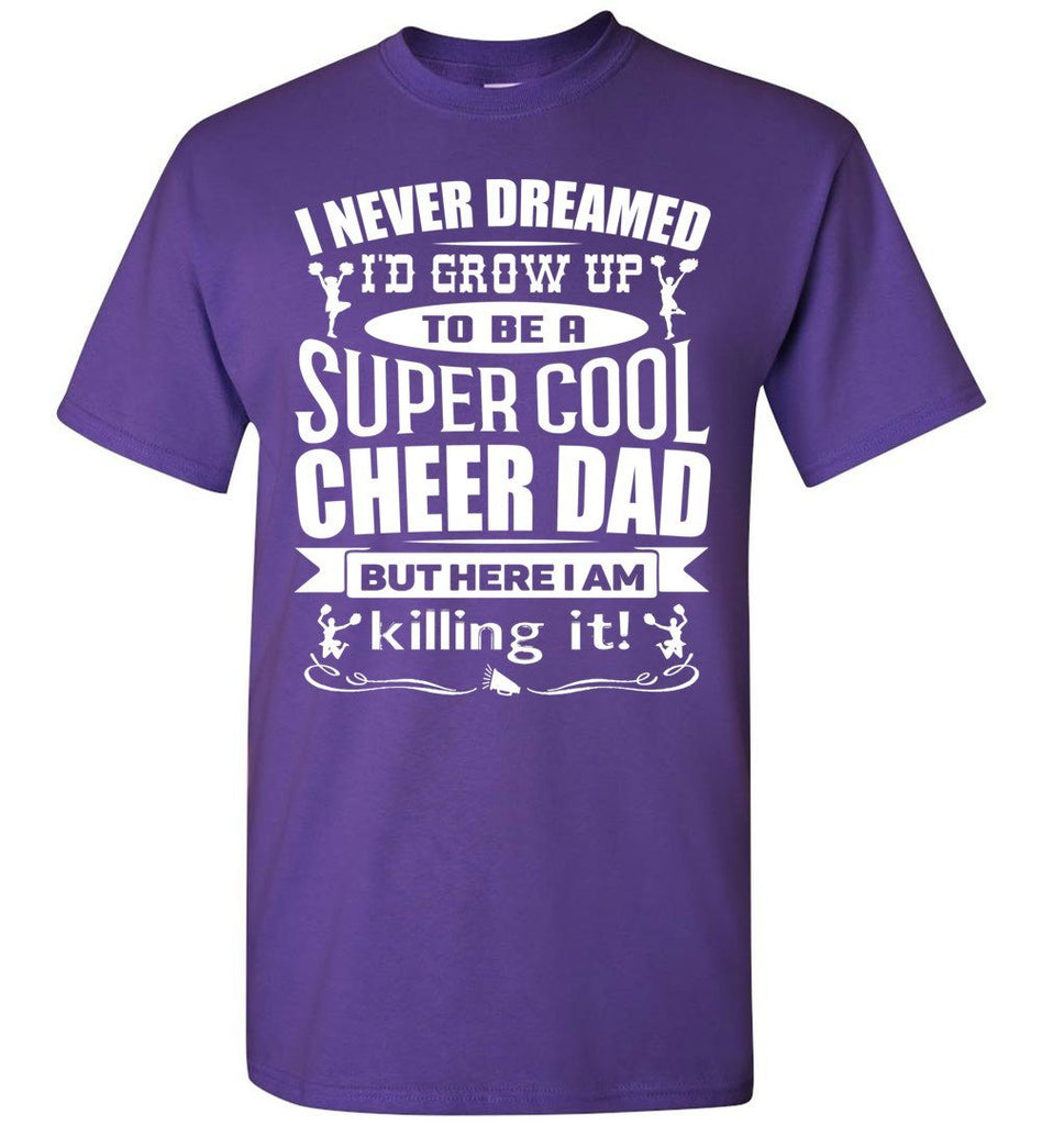 Super Cool Cheer Dad T Shirt purple