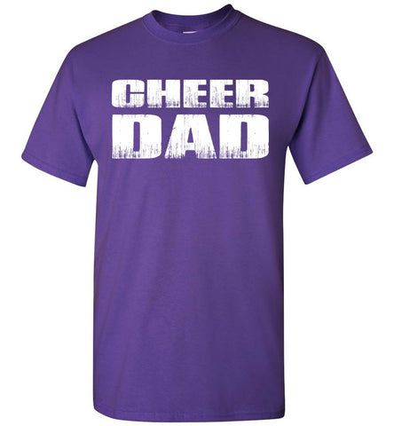 Image of Cheer Dad T Shirt purple