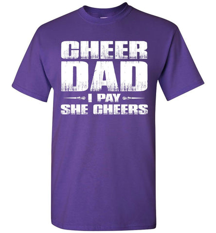 Image of I Pay She Cheers Cheer Dad Shirts purple