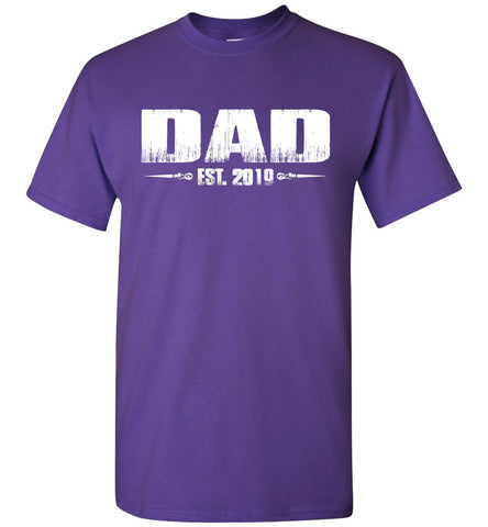 Image of Dad EST. 2019 New Dad T-Shirts purple