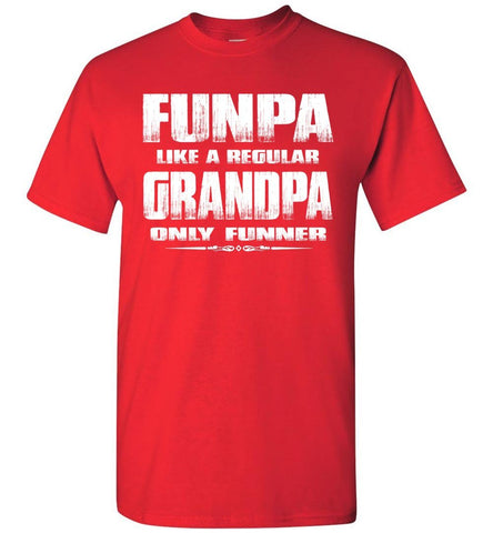 Image of Funpa Funny Grandpa Shirts red