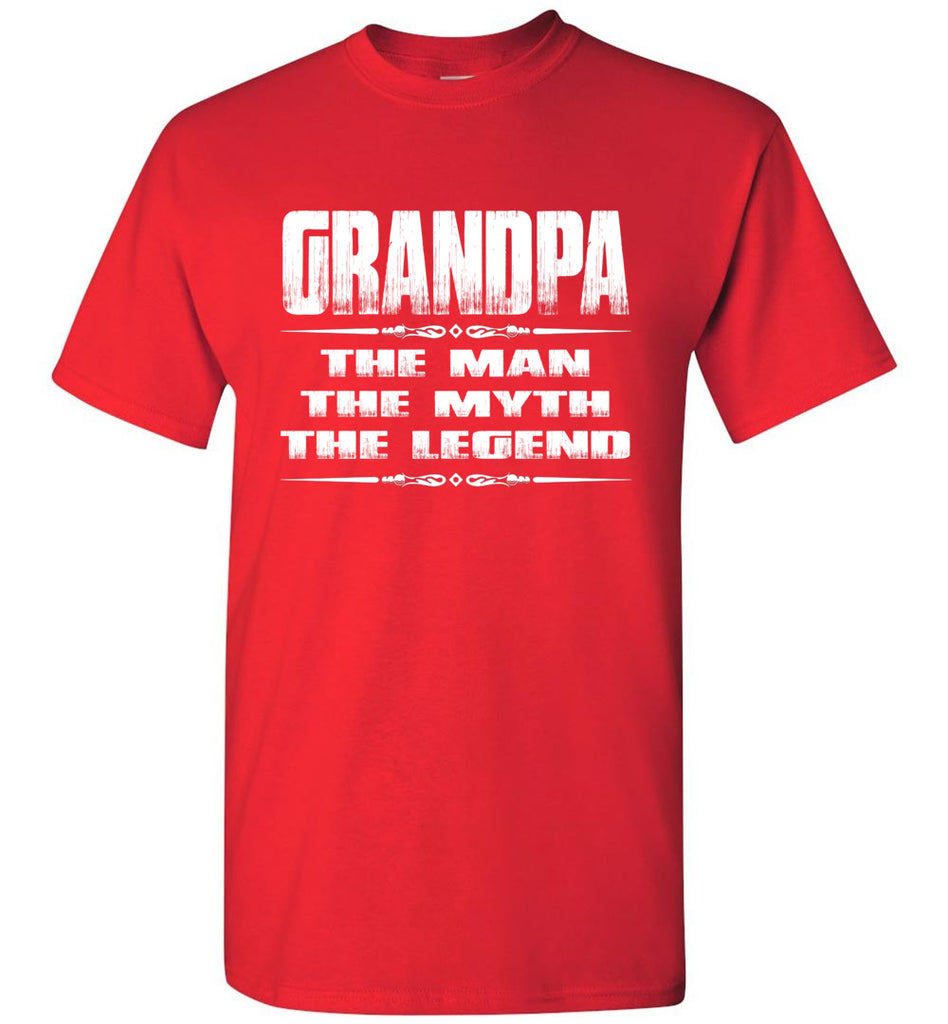 Grandpa The Man The Myth The Legend T Shirt red