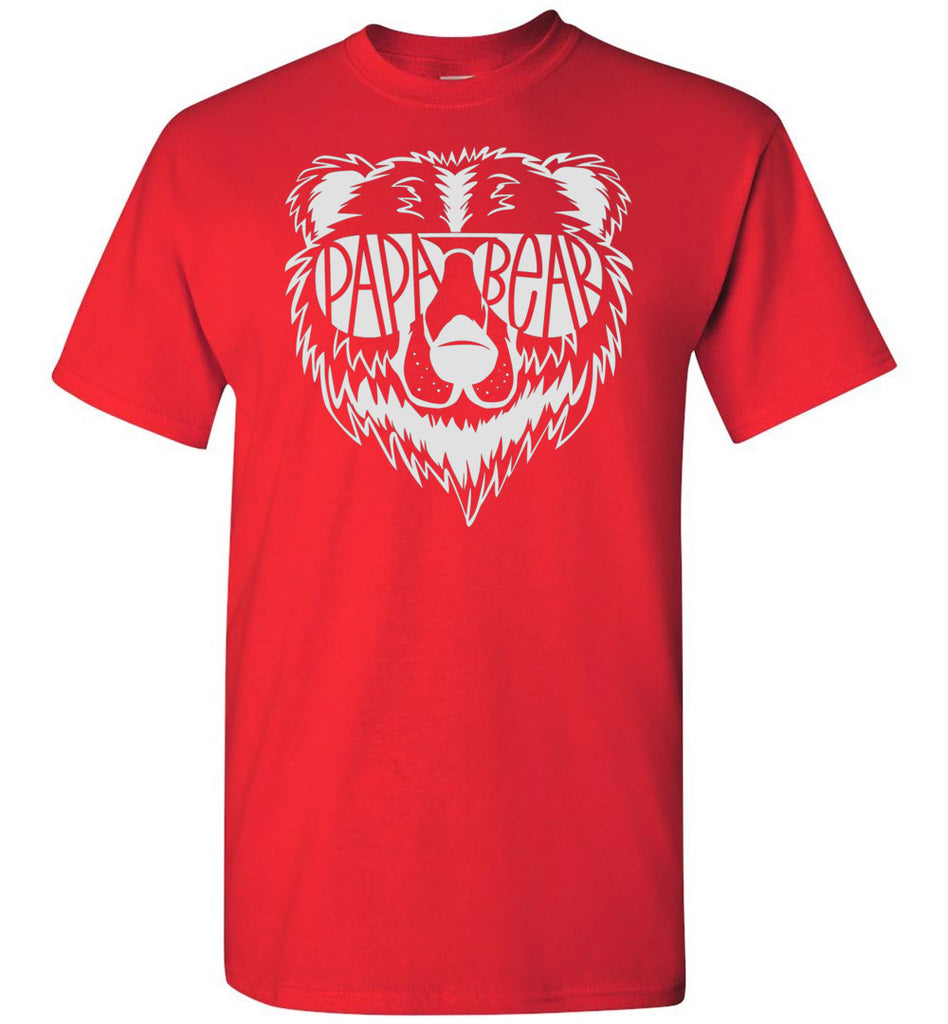 Papa Bear T Shirt red