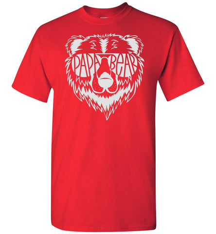 Image of Papa Bear T Shirt red