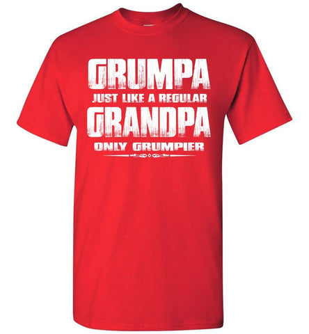 Image of Grumpa Funny Grandpa Shirts | Grandpa Gag Gifts red