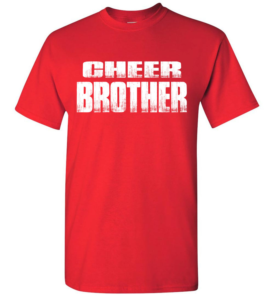 Cheer Brother Shirt | Cheer Brother Onesie Unisex Adult & Youth red