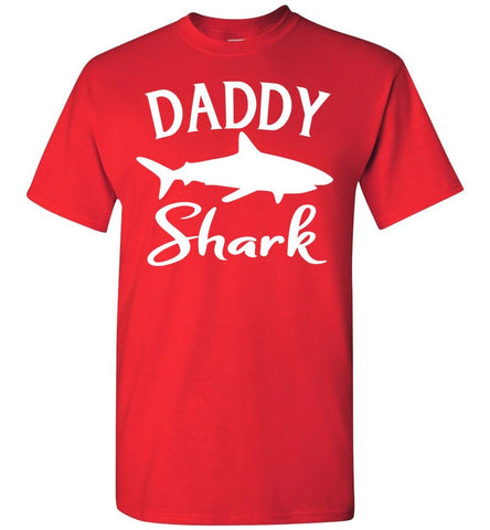 Image of Daddy Shark Shirt red