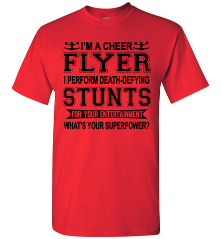 Image of I'm A Cheer Flyer Funny Cheer Flyer Shirts youth red
