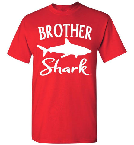 Brother Shark Shirt unisex red
