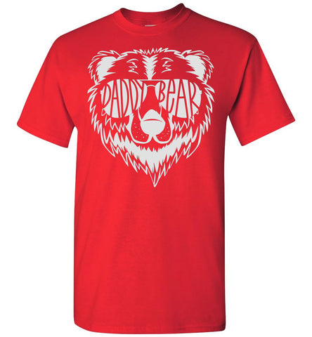 Daddy Bear T Shirt red