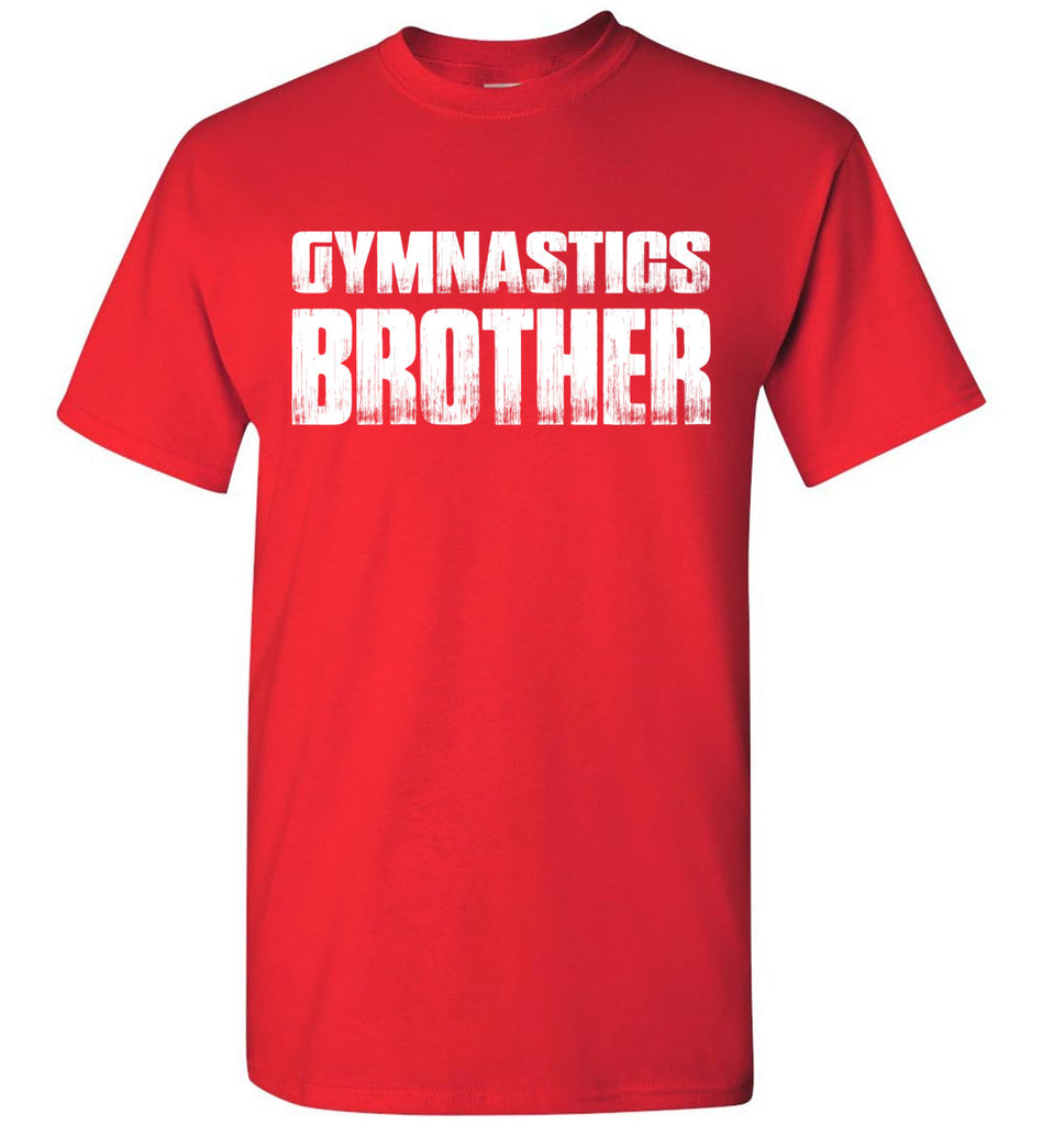 Gymnastics Brother Shirt red