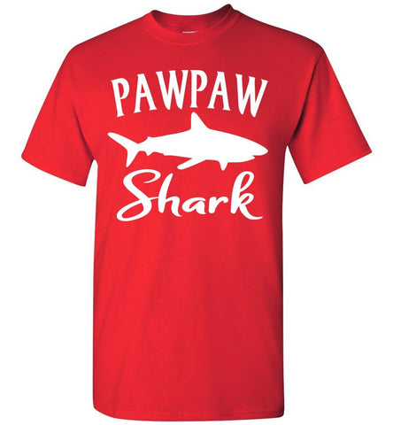 Pawpaw Shark Shirt red