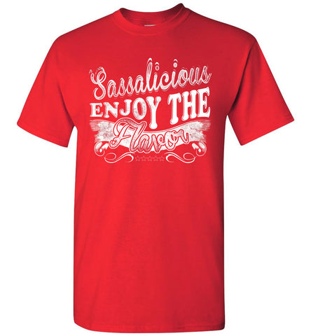 Image of Sassalicious Enjoy The Flavor! Sassy Shirts unisex red